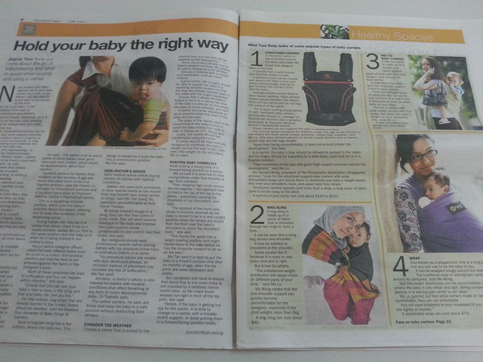 Straits Times Mind Your Body Feature